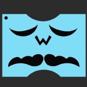 StencilEyes - QuickEZ/Moustache 3 Face Design Stencil