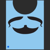 StencilEyes - QuickEZ/Beard & Moustache Face Design Stencil