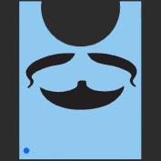 StencilEyes - QuickEZ/Beard & Moustache Face Design Stencil