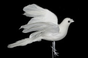 Donna X 2 the 18cm White Artificial Feather Dove