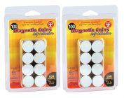 Hygloss 61402 Magnetic Coins-Self-Adhesive, 1.9cm Coins, 200, Black