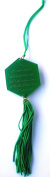 Islamic Acrylic Car Hanging Ornament - Al Fatiha & Ayat Al Kursi - Car Decoration - Hexagon - Green