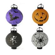 4Pcs Halloween Decorations LED Pumpkins Lantern Jack Skeletons Spiders Bats Haunted