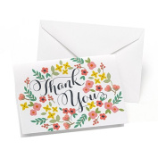 Hortense B. Hewitt 50 Count Retro Floral Thank You Cards