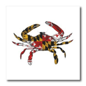 EvaDane - Signs - Maryland Crab Flag. - Iron on Heat Transfers - 8x8 Iron on Heat Transfer for White Material - ht_193242_1