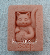 Creativemoldstore 1pcs Cat Playing clew (zx1575) Craft Art Silicone Soap Mould Craft Moulds DIY Handmade Soap Moulds
