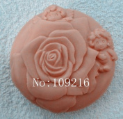 Creativemoldstore 1pcs Rose with Angel (zx705) Craft Art Silicone Soap Mould Craft Moulds DIY Handmade Soap Moulds