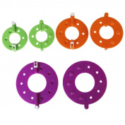 3-Size 6Pcs Pom-Pom Pompom Maker Fluff Ball Weaver--Random Colour