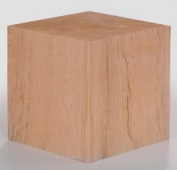 8.9cm Solid Wood Block Cube - 1 Block