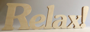 """Wooden Letters """"Relax!"""""""