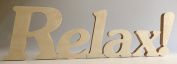 "Wooden Letters ""Relax!"""