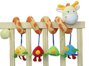 AQURE Giraffe Baby Crib Activity Spiral Stroller Toy