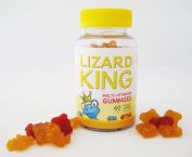 Kid's Multivitamin Gummies by Lizard King - 60 ct per Bottle, 30 Day Supply. Children Multivitamin Gummy. No Artificial Flavours, No Artificial Sweeteners, GMO Free, 100% Gluten Free. Essential Nutrients For Children's Health.