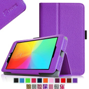 Fintie LG G Pad 7.0 Folio Case - Premium Leather With Auto Sleep / Wake Feature for LG G Pad V400 / V410 (LTE) 18cm Android Tablet - Violet