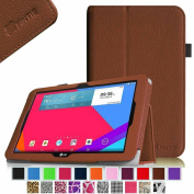 Fintie LG G Pad 10.1 Folio Case - Premium Leather With Auto Sleep / Wake Feature for LG G Pad V700 26cm Android Tablet - Brown