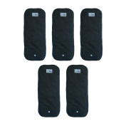 5 Snap-in Charcoal Bamboo Inserts for Pocket Cloth Nappies or Covers / 33cm x 13cm