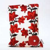Logan + Lenora Red Bloom Classic Wet Bag