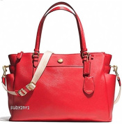 Coach Women's Multifunction Tote Pink Crossbody Nappy Baby Bag