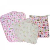 MyKazoe Baby Essentials Gift Set, Waterproof Wet Bag + 2 Waterproof Lap Pads + 2 Muslin Wipe Cloth - Set of 5