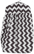 Baby Doll Chevron Nappy Stacker, Brown