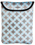 Grey And Turquoise Clover Print Nappy Travel Bag