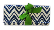 Caught Ya Lookin' Changing Pad, Blue and White Chevron