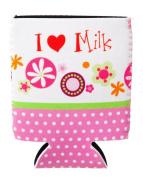 I Heart Milk Pink Polka Dot Baby Bottle Sleeve