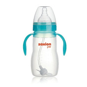 Zaxion 240ml Wide Neck One-colour Handle Full Silicone Bottle