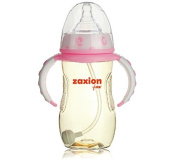 Zaxion 280ml Wide-diameter Straw One-colour Handle PPSU Bottle