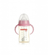 Zaxion 240ml Wide-diameter Straw One-colour Handle PPSU Bottle