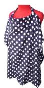 Nursing Cover, Breast Feeding Hooter : Navy Blue Polka Dot