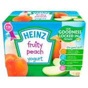 Heinz Peach Fruity Yoghurt 4mth+