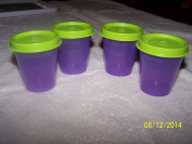 Tupperware Midgets 60ml Purple with Green Seal
