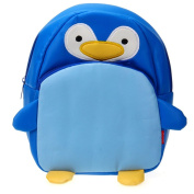 Children Kids Kindergarten Backpack Shoulders School Bag Cute Penguin Shape