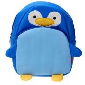 Children Kids Kindergarten Backpack Shoulders School Bag Cute Penguin Shape