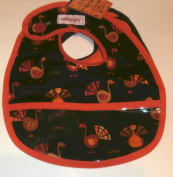 2 Red Hens Celebration Collection Bib Set Turkeys and Cheques