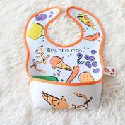 Cute Animal Waterproof Feeding Bib for Boys and Girls
