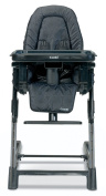 Combi High Chair - Black - Baby Chairs - Children's Highchairs - Comfortable Design and Style with Ease - 5 Position Height Adjustment - 3 Position Seat Recline - 5 Points Harness with Shoulder Pads