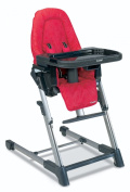 Combi High Chair - Raspberry - Baby Chairs - Children's Highchairs - Comfortable Design and Style with Ease - 5 Position Height Adjustment - 3 Position Seat Recline - 5 Points Harness with Shoulder Pads