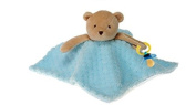 Blue Blanket Bear Pacifier Holder 25cm by Fiesta