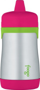 Thermos Foogo Phases Stainless Steel Sippy Cup, Watermelon/Green
