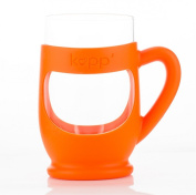 THE KUPP' Glass Drinking Cup, 180ml, 1 pack, Orange