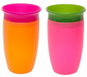 Munchkin Miracle 360 Sippy Cup, Pink/Orange, 300ml, 2 Count