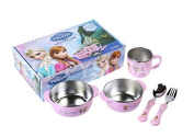 Disney Frozen Kid Double Wall Stainless Tableware Set