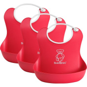 BabyBjorn Soft Bib 3 Pack - Red/Red/Red