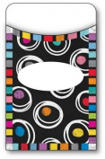 Colorful Chalkboard Library Pockets