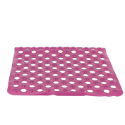 EVIDECO Non-Skid Square Shower Mat with Holes 50cm x 50cm Solid and Clear
