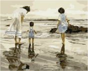Diy oil painting, paint by number kit- Sea of Love 16*50cm .