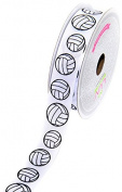LUV RIBBONS GSO0708-VOL Grosgrain 2.2cm Sports Ribbon, 10-Yard, Volleyball