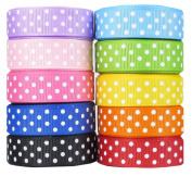HipGirl Polka Dot Printed Ribbon & Fabric Tape Value Pack (50yd